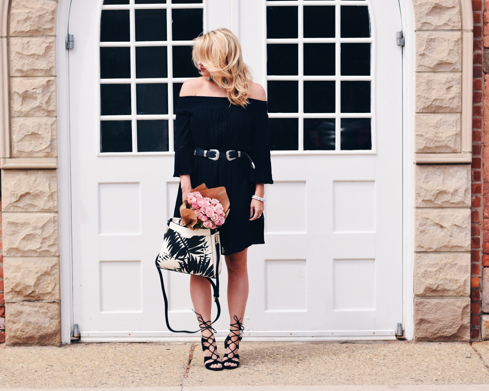 LBD + PALM PRINT SATCHEL