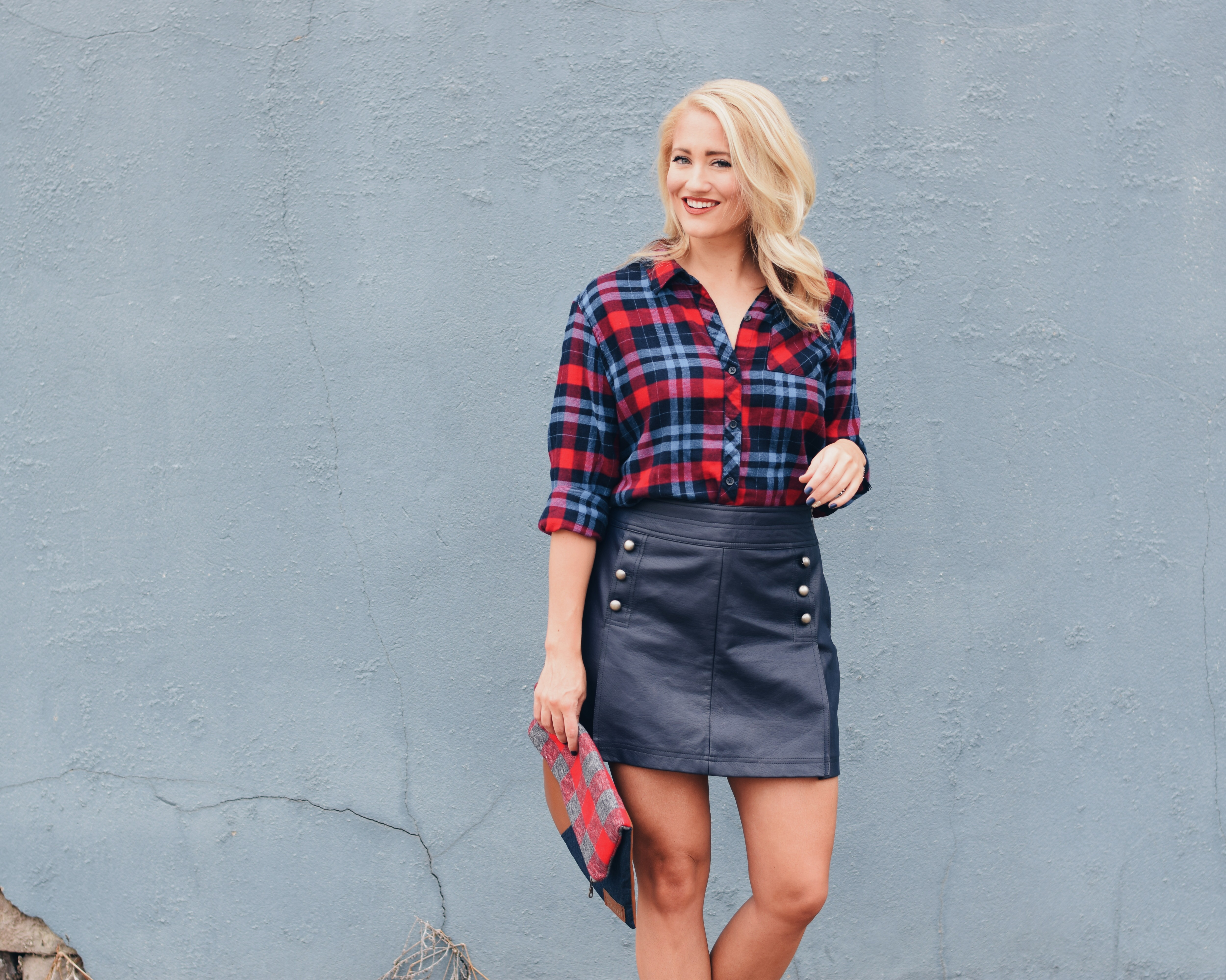 FLANNEL + LEATHER