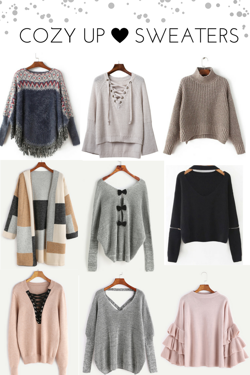 WINTER SWEATER WISHLIST