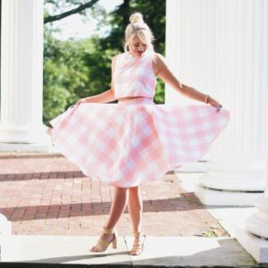PINK CHECK TWO PIECE